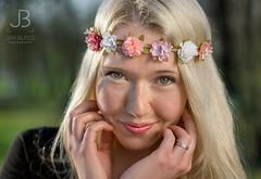 Summer princess (JanBures_com) Tags: portrait photo face girl summer party flowers romantic woman outdoor