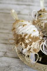 OvetteShabby_03w (Morgana209) Tags: ovetti uova decorazione shabby easter pasqua riciclo cartadapacco sacchettodelpane fiorellini perline fattoamano handmade diy creatività riciclocreativo recupero