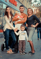 2014. Lviv. Ukraine (bobobahmat) Tags: lviv life lvov city color child children ukraine ukrainian street smile son daughter face family eyes people portrait woman girl group man