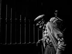 Old vs Young (Vitor Pina) Tags: fotografia photography moments momentos monochrome man men people pretoebranco portraits pessoas contrast candid urban urbano rua streetphotography street scenes shadows light