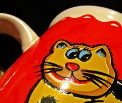 Macro Mondays - Glaze (Daryll90ca) Tags: macromondays hmm cat glaze cup mug kitty