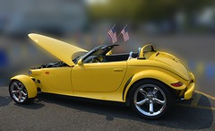 Plymouth Prowler (swong95765) Tags: car hotrod yellow convertible plymouth prowler unique automobile bokeh vehicle