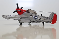 North American P-51D Mustang (PlaneBricks) Tags: lego ww2 planes plane aircraft mustang p51 fighter airplane wwii military army