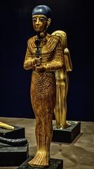 Gilded wood figure of the god Ptah New Kingdom 18th Dynasty Egypt 1332-1323 BCE (mharrsch) Tags: figure figurine sculpture god deity ptah statue pharaoh king ruler tutankhamun burial tomb funerary 18thdynasty newkingdom egypt 14thcenturybce ancient discoveryofkingtut exhibit newyork mharrsch premierexhibits gold