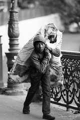 Childhood Passing By (DSF_9475) (Param-Roving-Photog) Tags: young youth ragpicker wastepicker garbage refuse salvage recycle swachhbharat urbanwaste childhood childlabor socialevil monochrome blackandwhite bw streetphotography nikon nikkor