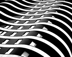 Relax In The City 2017 - London Architecture (Simon & His Camera) Tags: blackandwhite city urban architecture contrast curve window building london lines white black glass monochrome outdoor pattern simonandhiscamera diagonal abstract symmetry geometric bw lookingup