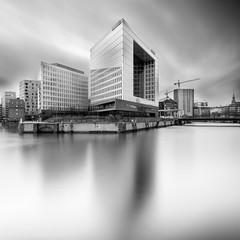 Mirrored Spiegelhaus (frank_w_aus_l) Tags: hamburg spiegelhaus monochrome d810 nikon architecture longexposure germany bw bnw noiretblanc blacknwhite city deutschland de