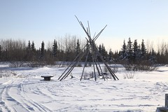 Ghosts of a hearth, hearth in waiting (rex.d) Tags: fortgeorge jamesbay cree eeyouistchee snow winter light spirit abandoned tipi