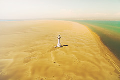 "Lighthouse. (¡arturii!) Tags: wow amazing awesome superb interesting stunning impressive nice beauty great arturii arturdebattk ""canonoes6d"" gettyimages travel trip tour route viatge holidays vacations drone dron flying aerial dji phantom3 cool visual landscape nature desert beach lighthouse landmark destinations deltadelebre catalonia catalunya cataluña europe ebro paradise sea mediterranean water sand dunes sky river"