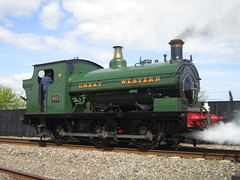 IMG_4723 - GWR Hudswell Clarke Saddle Tank 813 (SVREnthusiast) Tags: didcotrailwaycentre didcot railway centre gwrhudswellclarkesaddletank813 gwr hudswellclarke saddletank 813