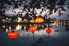 Hoi An at night (desomnis) Tags: hoian vietnam asia southeastasia night bokeh 6d canon6d 35mm sigma35mm dof depthoffield colorful colourful lamps lampion chineselantern lantern reflection river traveling travelphotography travel nightshot desomnis