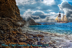 Ship to Shore (Michael F. Nyiri) Tags: art arty photocomposite composite