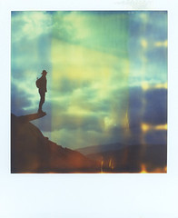 On A Rock Plank (Bastiank80) Tags: bastiank polaroid time zero lusen nationalpark mountains mountain human being life live outdoor