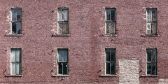 """""""Be kind, for everyone you meet is fighting a hard battle."""" (A Different Perspective) Tags: detroit michigan usa boarded brick city cover greektown wall window wood"""
