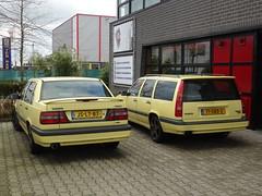 Pair of Volvo 850 T5 R's (harry_nl) Tags: netherlands volvo nederland 850 zutphen 2014 t5r jslt87 71sbs3