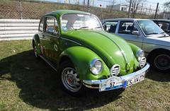 "VW Kfer ""76"" grn (Foto 1) (H2O74) Tags: auto old verde green classic cars car modern vw vintage bug germany volkswagen deutschland automobile sam alt beetle scene vert front voiture german coche carros classics peta 70s carro oldtimer autos"