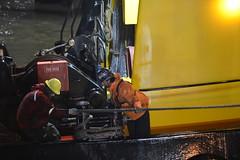 Crews work through the night (WSDOT) Tags: wsdot washingtonstatedepartmentoftransportation sr520 stateroute520 pontoon pontoonconstructionproject sr520program sr520bridge floatingbridge aberdeen sr520bridgereplacementandhovprogram kiewit general kg cycle4 tugboat sr520pontoon floatout april152014
