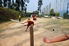 Cricket (Satyaki Basu) Tags: travel india mountain playing game west sport kids canon indian cricket monastery lama f28 sikkim t3i 1755 600d rinchenpong kaluk