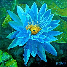 Complete Blue Water Lilly Picture Puzzle (thefoxdot) Tags: puzzles jigsawpuzzles onlinepuzzles playpuzzle jigbo bluewaterlillypuzzle