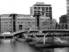 Black  & White Series (bimbler2009) Tags: bridge people water sonycybershot urbanlandscape
