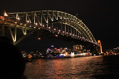 IMG_1727 (samantha's photogarphy) Tags: bridge sea water ferry night canon buildings dark landscape lights scenery harbour sydney saturday australia darlingharbour nightlife therocks harbourbridge brudge 1100d
