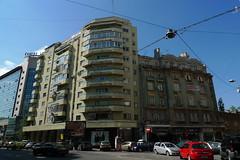 Modern Architecture - Bucharest, Romania (John Meckley) Tags: building modern corner romania bucharest bucaresti