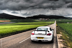 5196757_m_F (Emiko and Daniel) Tags: road public field spring spain moody wheat olympus filter porsche straight effect omd 987 caymans techart 2013 em5 olympus1250mm