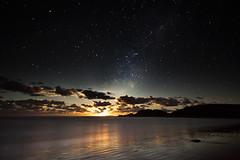 Moon Rise (Falke in Oz) Tags: ocean moon beach way pacific australia rise milky emeral