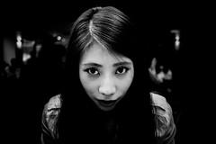 ((Jt)) Tags: portrait blackandwhite girl monochrome face eyes asia flash korea seoul fujifilm koreangirl xpro1 jtinseoul 18mmf2
