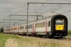 NMBS Trainsets N 548, 463 and 469 near Varsenare. (Franky De Witte - Ferroequinologist) Tags: de eisenbahn railway estrada chemin fer spoorwegen ferrocarril ferro ferrovia