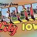 Greetings from Webster City, Iowa - Large Letter Postcard