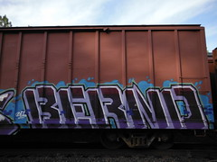 BERND (2ONE5-1981 (S.O.B.A.)) Tags: train bench northwest american boxcar westcoast freighttrain americansteel graffitigraff