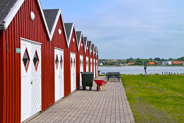 De røde huse i Virksund