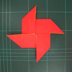 สอนวิธีพับกระดาษเป็นดอกกุหลาบ (แบบฐานกังหัน) (Origami Rose - Evi Binzinger) 008
