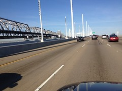 (wbaiv) Tags: sf bridge vw island oakland bay back am rust san francisco iron driving steel north things riding again elements commute stuff there oxidation yerba passat exposed fromcar 830 buena 580 outwindow 715