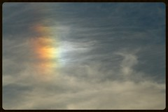 Sundog (Zelda Wynn) Tags: weather clouds cloudy auckland sundog cloudscape optics troposphere opticaleffects zeldawynnphotography