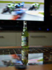 Beer-time watching Moto GP (i-lenticularis) Tags: leica m8 leicam8 m8raw2dng