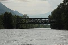 SBB Tilo Flirt von Stadler Rail auf der Eisenbahnbrcke der Linie Cadenazzo - Locorno ( Fachwerkbrcke - Brcke - Bridge - Pont )  ber den Ticino ( Fluss - River ) im Kanton Tessin - Ticino in der Schweiz (chrchr_75) Tags: chriguhurnibluemailch christoph hurni schweiz suisse switzerland svizzera suissa swiss chrchr chrchr75 chrigu chriguhurni 1406 juni 2014 hurni140602 eisenbahn bahn train treno zug schweizer bahnen albumbahnenderschweiz ticino fluss river albumticino albumticinobellinzonalagomaggiore kantontessin tessin juni2014 albumsbbflirt flirt sbb cff ffs stadler rail albumbahnsbbrabeflirt triebzug nahverkehrszug v ffentlicher verkehr