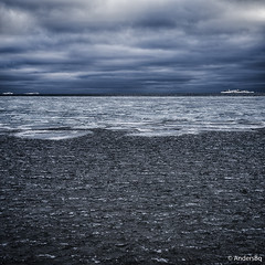 Ice and Sea (AndersBq) Tags: sea cold ice water clouds finland fi hang voigtlnder58mmf14noktonslii
