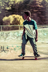 "Vintage ""21st"" (TheRoyalGriff) Tags: park old boy music man black guy sport graffiti clothing ride extreme skating grain hipster dude riding skatepark cover skate colored torn skater"