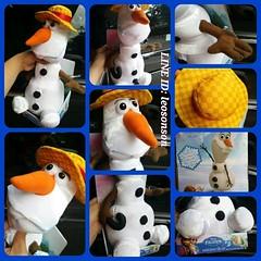 """13"""" #DISNEY #FROZEN #SINGING #OLAF #โอลาฟ รุ่นใส่หมวกซัมเมอร์ สีเหลืองลายสก๊อต แสนน่ารัก นุ่มน่ากอด กดมือ ร้องเพลง (เพลงที่ร้องในการ์ตูน) ของแท้จาก #Toys R Us สินค้าหายาก ใน#ทอยส์ อาร์ อัส จำกัดจำนวนการซื้อ 1 คน 1 ตัว  #USA IMPORTED  งานผ้าขน กึ่งกำมะหยี่"""