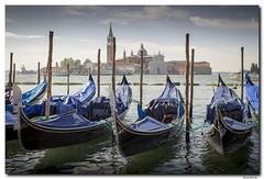 Gondolas frente a San Giorgo (Alcantara Alberto) Tags: venice italy basilica jorge gondola venecia venezia giorgio trasatlantico