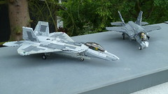 Lockheed Martin F-22 Raptor and F-35 Lightning II (Corvin Stichert) Tags: plane fighter force martin lego aircraft military air united jet raptor f22 states lockheed usaf superiority