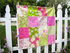Pink and Green Bouquet (sewfunbymonique) Tags: pink green patchwork prettyplease heatherbailey jenniferpaganelli tanyawhelan popgarden sewfunbymonique niceyjane