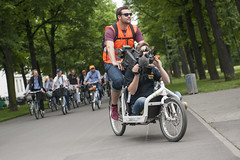 Media filming the Bicycle Tour