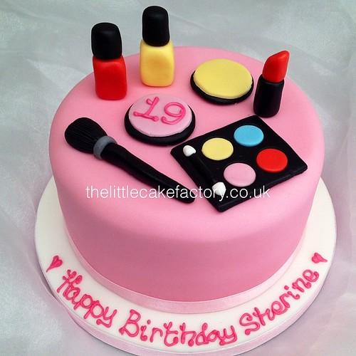 Make Up Mini Cake Makeup Cosmetics Nails Lipstick Red Colour