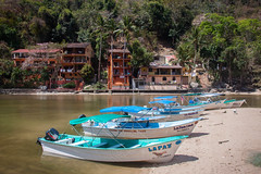Blue & White Boats in Boca De Tomatlan, Jalisco, Mexico (ChrisGoldNY) Tags: friendlychallenges challengewinners unanimous chrisgoldphoto chrisgoldphotos chrisgoldny chrisgoldberg forsale licensing bookcover bookcovers albumcover albumcovers posters poster canon travel viajes mexico mexican latinamerica jalisco puertovallarta vallarta watertaxis blue boats beaches chrisgold
