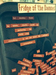 "A #PALitFest #TFOTD POEM: ""Her Monkey Feasts"" by Nathan May (MikeArnzen) Tags: world party dog fridge poetry raw poem horror refrigerator screaming press publishing con magnetic damned rdsp fridgeofthedamned tfotd whc2015"
