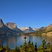 St Mary Lake and a View of Mountains (Glacier National Park)