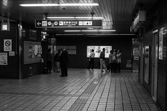 Nagoya Subway (drufisher) Tags: bw japan subway trainstation nagoya